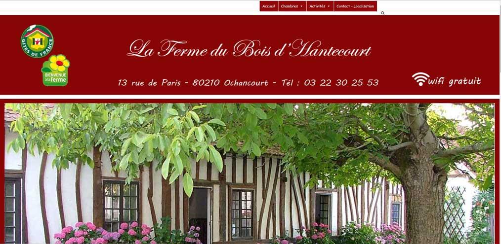 """Création Site Internet """"La Ferme du Bois d'Hantecourt"""""""