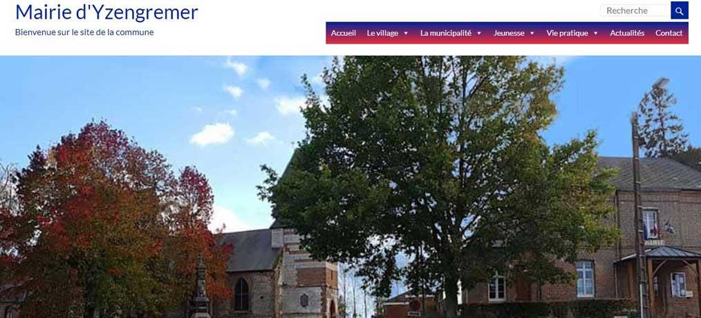 Création du site internet mairie yzengremer