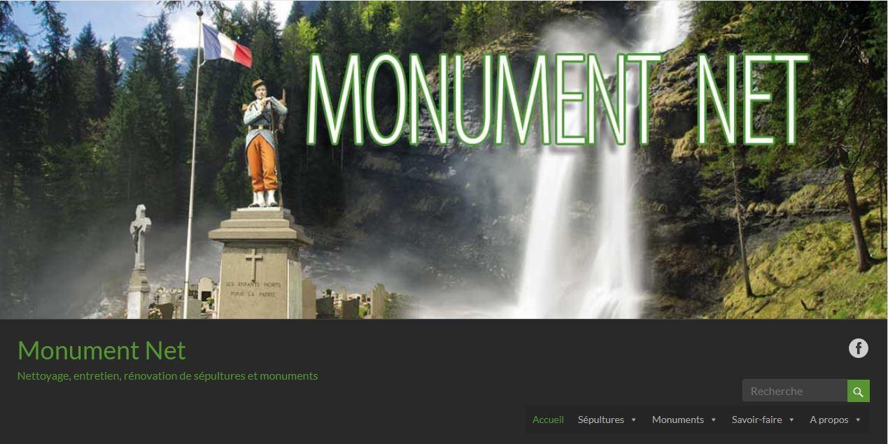 """Création de site internet """"Monument Net"""""""
