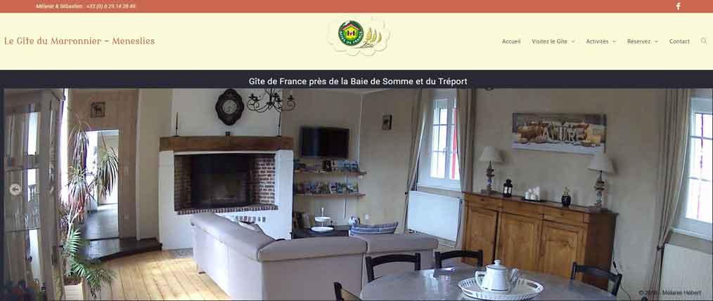 """Création de site internet """"Gite du Marronnier"""""""