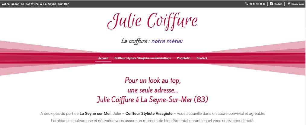 Création site internet Julie Coiffure