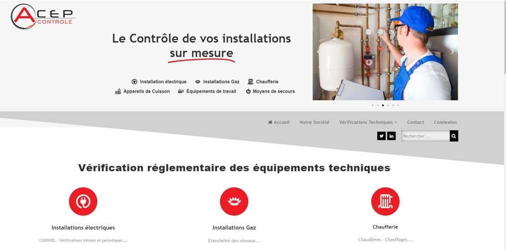 """Création de site internet """"Acep Contrôle"""""""