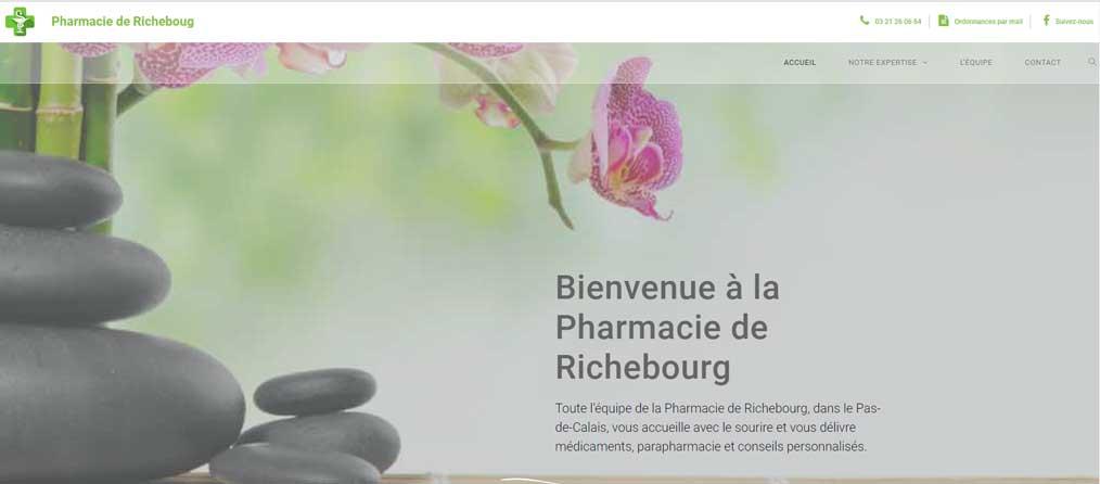 Création de site internet Pharmacie de Richebourg