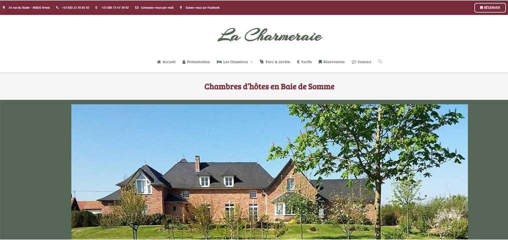 """Création de site internet """"La Charmeraie"""""""